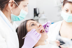 At dentist's office Stock Photos