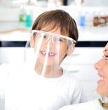 Dentist's teeth checkup Stock Image