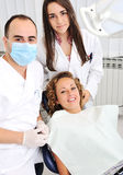 Dentists teeth checkup Stock Photography