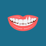 Dentist smile icon. Vector dentist smile. Beautiful human smile illustration Royalty Free Stock Photo