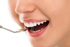At a dentist with a smile Stock Images