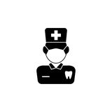 Dentist solid icon Stock Images