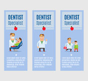 Dentist specialist flyers design Stock Photography