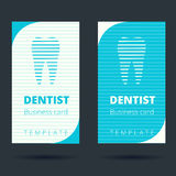 Dentist and stomatologist business card template. Tooth icon Stock Images