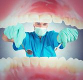 Dentist takes care Royalty Free Stock Photo