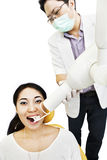 Dentist taking an X-ray Royalty Free Stock Images