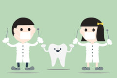 Dentist with teeth Royalty Free Stock Images