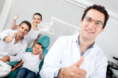 Dentist with thumbs up Royalty Free Stock Photos
