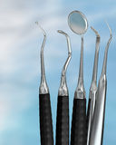 Dentist tools 1. Photorealistic highly detailed dental instruments Royalty Free Stock Photography