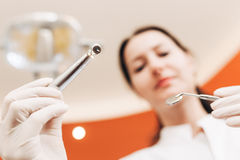 Dentist with tools Stock Photography
