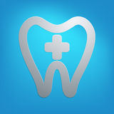 Dentist tooth abstract icon in vector format Royalty Free Stock Images