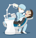 Dentist treats teeth. Royalty Free Stock Photos
