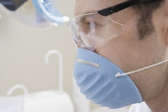 Dentist Wearing Eyewear And Mask Royalty Free Stock Photos