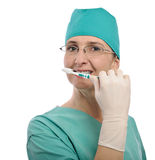 Dentist woman Royalty Free Stock Images