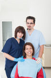 Dentist woman , assistant and patient Royalty Free Stock Images