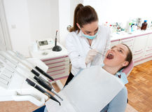 Dentist at work Royalty Free Stock Photos