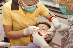 Dentist at work Royalty Free Stock Photo