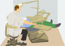 Dentist at work Royalty Free Stock Image
