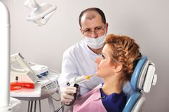 Dentist at work Royalty Free Stock Photography