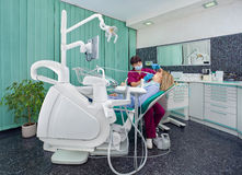 Dentist working Stock Photo