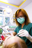 Dentist working Royalty Free Stock Photography