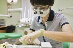 Dentist working, instruments Stock Photos