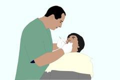 Dentista ilustración del vector