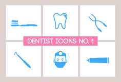 Dentista & icone dentali no. 1 Fotografia Stock Libera da Diritti