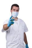 Dentista com pulverizador anestésico Fotografia de Stock
