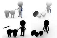 dentista Concept Collections With Alpha And Shadow Channel do homem 3d Imagem de Stock