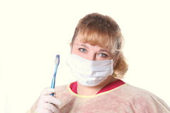 Dentista de la mujer Foto de archivo