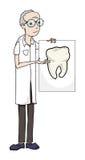 Dentista del fumetto Illustrazione Vettoriale