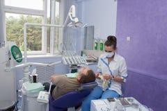 Dentista e paciente. Fotografia de Stock