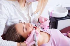 Dentista e paciente Fotografia de Stock Royalty Free