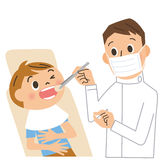 Dentista e paziente illustrazione di stock