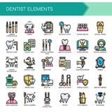 Dentista Elements, iconos perfectos del pixel libre illustration