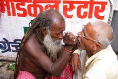 Dentista en Varanasi Imágenes de archivo libres de regalías