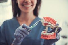 Dentista fêmea novo bonito fotos de stock royalty free