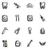 Dentista Icons Freehand Fotografia Stock Libera da Diritti
