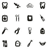Dentista Icons Freehand Fill Fotografie Stock