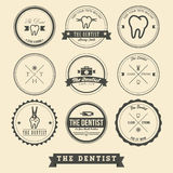 Dentista Label Design Immagine Stock Libera da Diritti