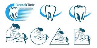 Dentista medico dell'insieme Immagine Stock
