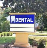 Dentista Office Sign Fotografía de archivo libre de regalías