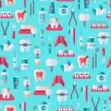 Dentista senza cuciture Equipment Pattern Fotografia Stock