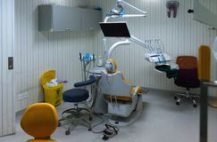 Dentista vazio Office, sala médica imagens de stock