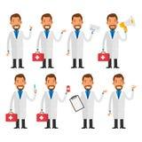 Dentiste dans diverses poses Images libres de droits