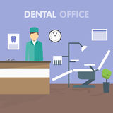 Dentiste de lieu de travail, illustration de vecteur illustration de vecteur