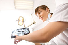 Dentiste de rayon X Images libres de droits