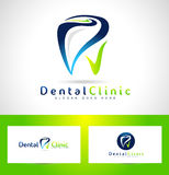 Dentiste dentaire Logo Design illustration libre de droits