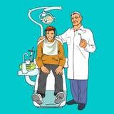 Dentiste et patient Patient en bonne santé Photos libres de droits